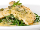 Lemon sole with samphire and caper butter sauce