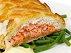 Salmon Wellington with Mushroom Duxcelle
