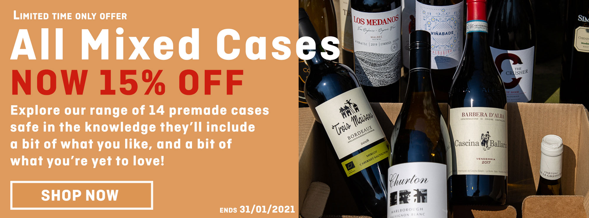 15% off mixed case