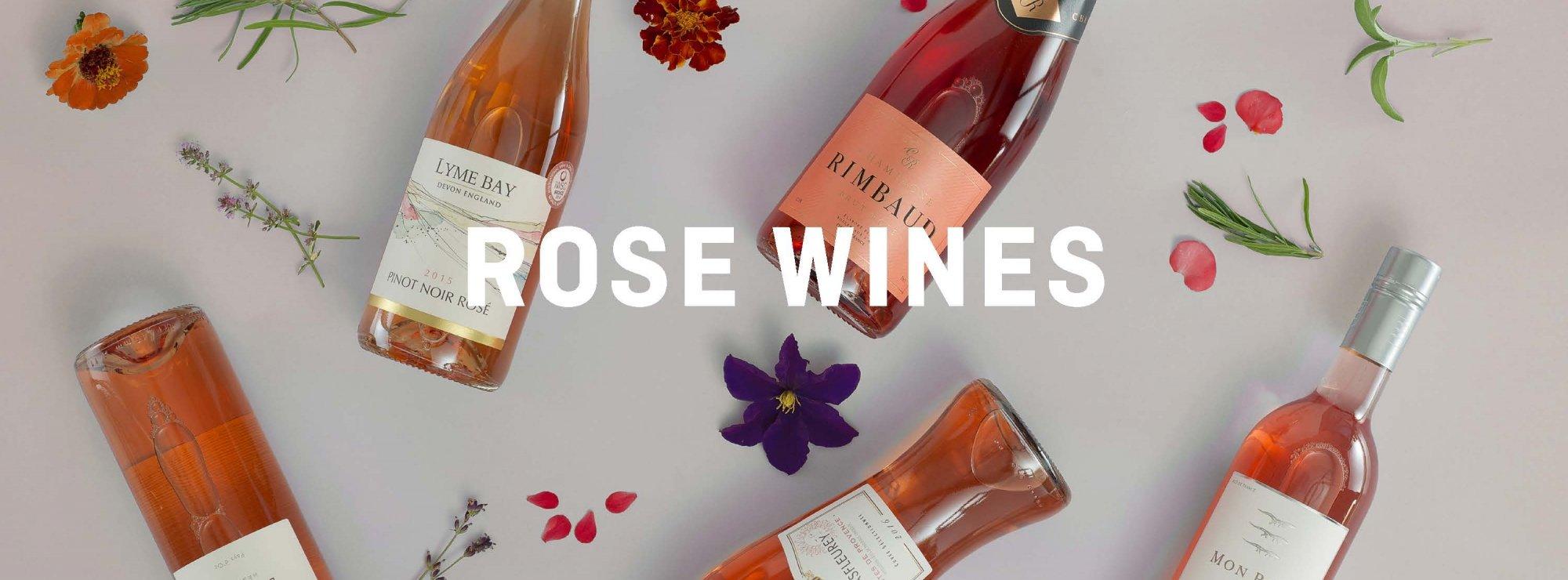 Rose Wine Banner
