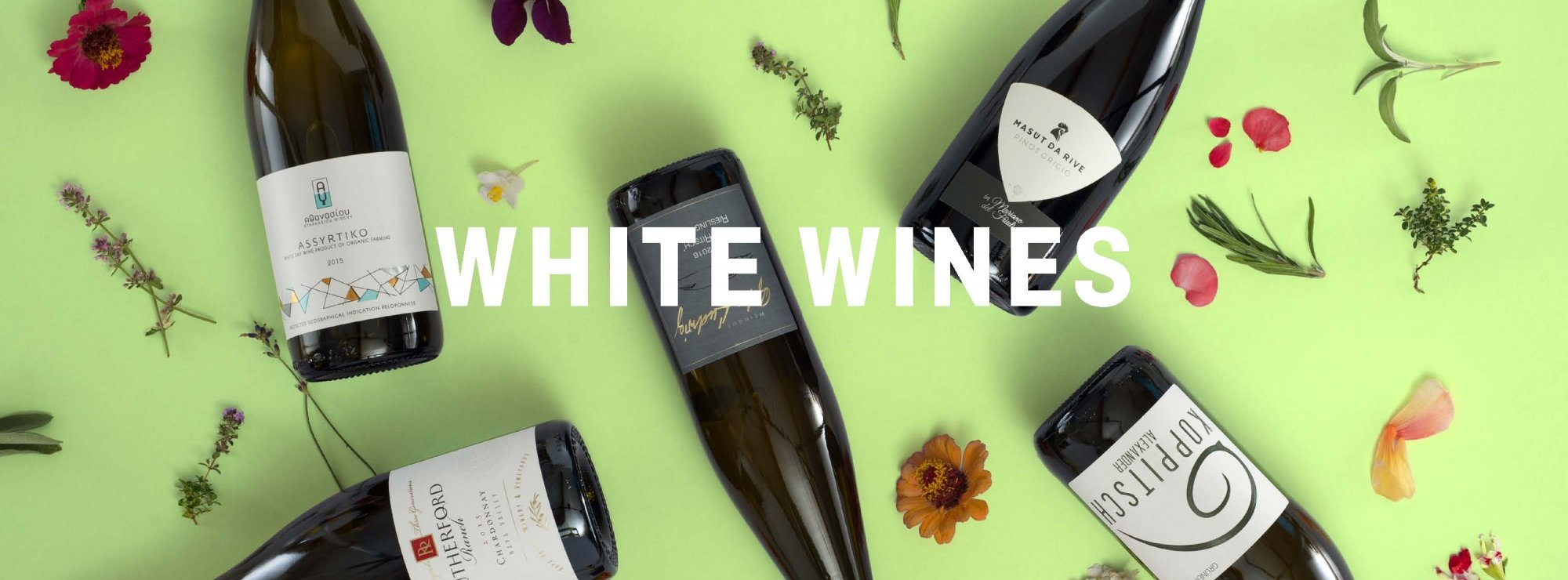 White Wines Banner