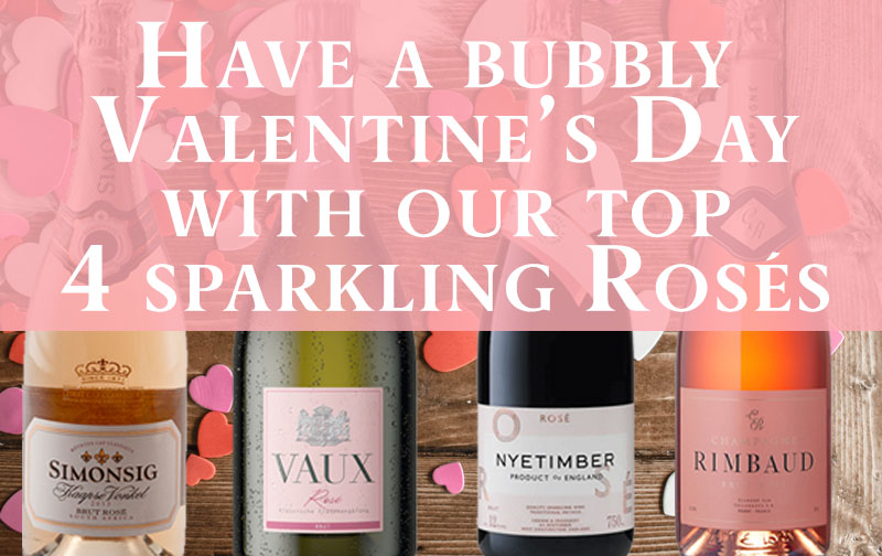 Have a bubbly Valentine's Day with our top 4 sparkling Rosés